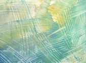 Abstract hand drawn paint background: blue, green, and yellow futuristic pa — Stock Photo