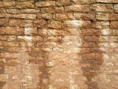 Старый, рваный кирпичной стены текстуры — Стоковое фото
