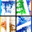 Stock Photo: Collage of abstract hand drawn painting / graphics
