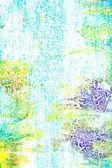 абстрактный текстурированный фон: синий, зеленый и желтый узоры на белом фоне — Стоковое фото