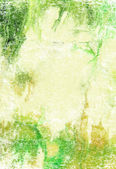 Abstract textured background: green, and brown patterns on yellow backdrop — Stock fotografie