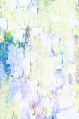 Abstract textured background: blue, green, and yellow patterns on white backdrop — 图库照片