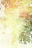 Abstract textured background: red, green, and white patterns on yellow backdrop — Stock Photo