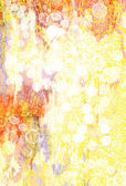 Abstract textured background: red, blue, and white patterns on yellow backdrop — Stock Photo