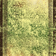 Elegant vintage brown border frame: abstract textured background with yellow, brown, and green patterns — Stock Photo
