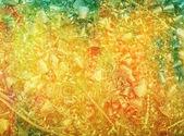 Grunge tarzı metal detayları ile dokulu arka plan: kırmızı, sarı ve yeşil desenleri — Stok fotoğraf