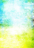 Abstract textured background: blue, yellow, and green patterns on white backdrop — Stock Photo