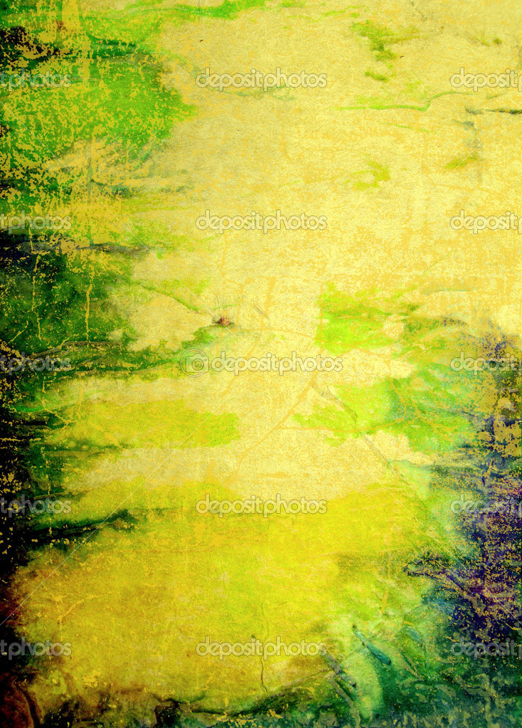 old paper abstract textured background with green blue