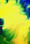 Abstact texturado con patrones de verdes, azules y marrón sobre fondo amarillo — Foto de Stock