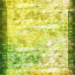 Vintage border frame: Abstract textured background with green, yellow, and brown patterns on white backdrop — Stock Photo #17598729