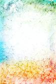 Streszczenie teksturowanej tło zielony, niebieski, czerwony i żółty p — Zdjęcie stockowe