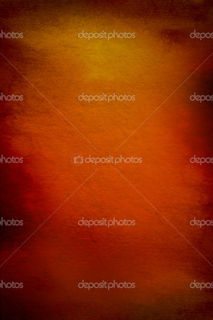 Abstract textured background with red, brown, and yellow patterns on orange backdrop. For art texture, grunge design, and vintage paper / border frame — Stock Photo #17683433