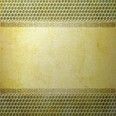 Abstract yellow and brown background or paper with bright center spotlight and dark border frame with grunge background texture — Stock Photo