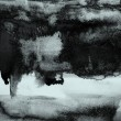Abstract watercolor textured background: black and grey colors — 图库照片