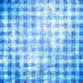 Abstract blue background or paper with grunge texture and white check (square) patterns — Foto de Stock
