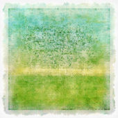 Highly detailed summer-themed blue and green grunge background or paper with vintage texture — Stock Photo