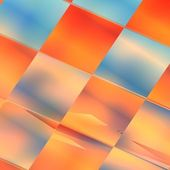 Blue and orange squire abstract futuristic background — Stock Photo