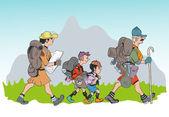 Family hike — Stock Photo