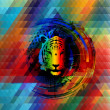 Abstrac tiger in rainbow colors — Stockfoto