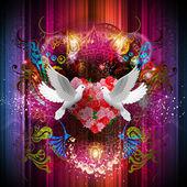 Wedding doves — Stock Photo