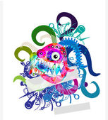 Abstract background with monster for design — Stock Photo