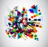Abstrakt bakgrund med färgglada figurer — Stockfoto