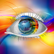 Stock Photo: Eye background