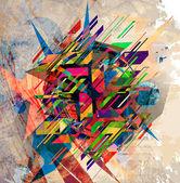 Abstract trash — Stock Vector