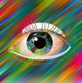 Streszczenie oko — Zdjęcie stockowe