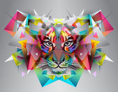 Abstract artistic tiger illustration. — Stock Photo