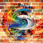 Magic eye illustration — Stock Photo