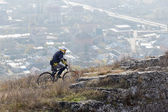 Mountainbiken — Stockfoto