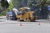 Trabajos de reparación en la carretera. — Foto de Stock