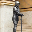 Knight in armor with a sword. — Stock Photo