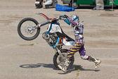 Sportsman - motorcyclist. — Stock Photo