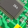 Stock Photo: Microprocessor on electronic board.