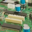 Stock Photo: Components on circuit board.