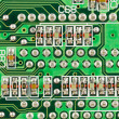 Stock Photo: Printed circuit board with resistors.