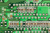 Printed circuit board with resistors. — Stock Photo