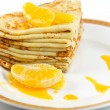 Stock Photo: Stack of pancakes.