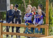 Cossack folklore ensemble.  — Stock Photo