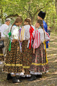 Girls in traditional Cossack costume. — Stock Photo