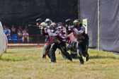 Teamsporten. paintball. — Stockfoto
