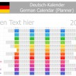 Royalty-Free Stock Vektorfiler: 2014 German Planner Calendar with Horizontal Months