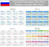 2014 Russian Mix Calendar Mon-Sun — Stock Vector