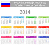 2014 Russian Type-1 Calendar Mon-Sun — Stock Vector