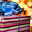 Royalty-Free Stock Photo: A present tied with a blue bow