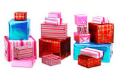 A selection of colorful presents — Stock Photo