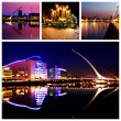 Stock Photo: Dublin City Center at Night