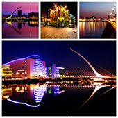 Dublin City Center at Night — 图库照片